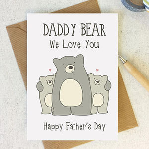 Daddy Bear Fathers Day Card - winter sale
