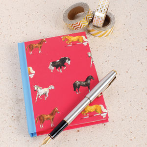 A6 Red Horse Notebook - stationery