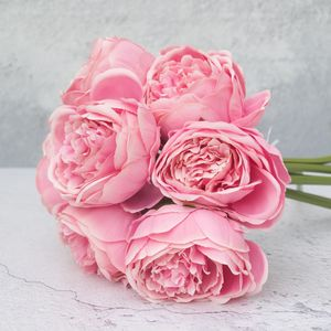 Soft Pink Artificial Peony Bouquet