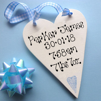 Blue Heart Motif & Ribbon