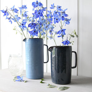Blue Artisan Ceramic Jug