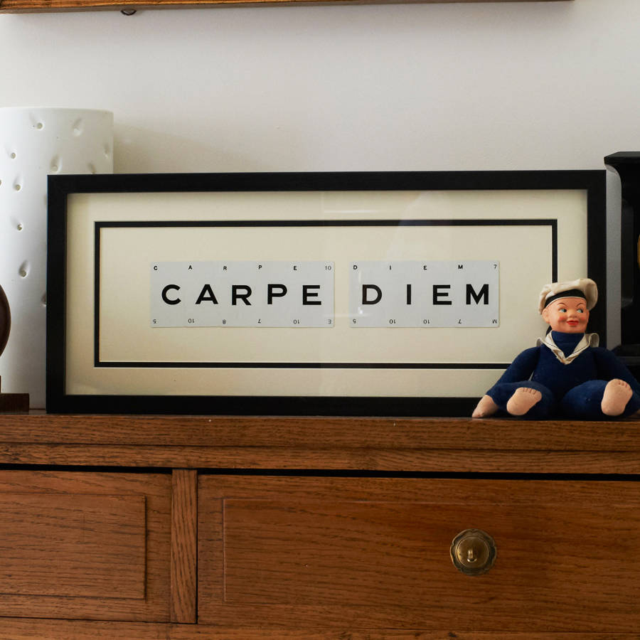 carpe diem by vintage playing cards notonthehighstreet com