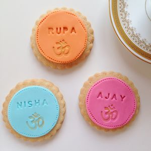 Indian Wedding Divali Favour Cookies - edible favours