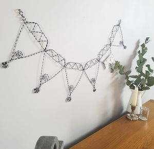 Diamond Wire Picture Holder Bunting - decoration