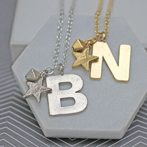 Personalised Statement Initial Necklace - necklaces & pendants