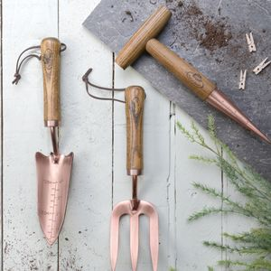 Garden Tools In Wood And Copper - potting shed essentials