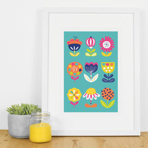 Floral Bright Botanical Modern Abstract Art Print - new in prints & art