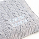 Baby Boys Hound Grey Cable Blanket