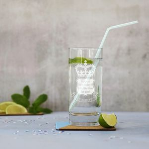 Personalised 'Let The Fun Be Gin' Glass