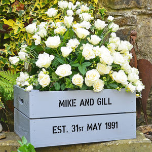 Personalised Crate - Silver Wedding Anniversary - 25th anniversary: silver