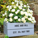 Personalised Crate - Silver Wedding Anniversary