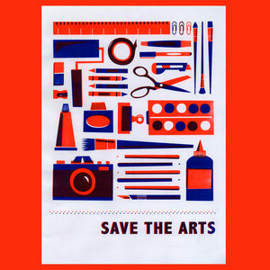 A3 'Save The Arts' Risograph Print - screen prints