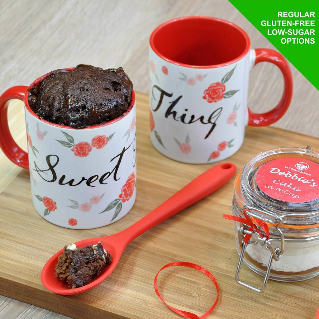 'Sweet Thing' Chocolate Cake In A Cup Kit Romantic Gift