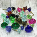 Coloured Faceted Glass Cupboard Door Knobs Drawer Pull