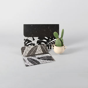 Set Of Two Leaf Pattern Folders - desk accessories