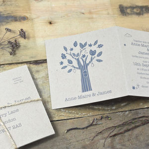 Enchanted Tree Tri Folded Wedding Invitation
