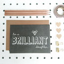 'Brilliant Daughter' Chalkboard Card