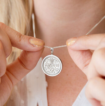 60th Birthday 1961 Sixpence Coin Necklace