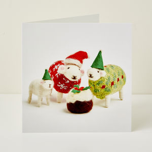 Santa And His Helpers Greeting Card - cards & wrap