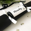 Personalised Christmas Cracker Place Setting