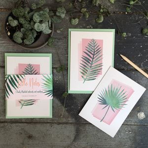 Palm Print Notecards And Envelopes