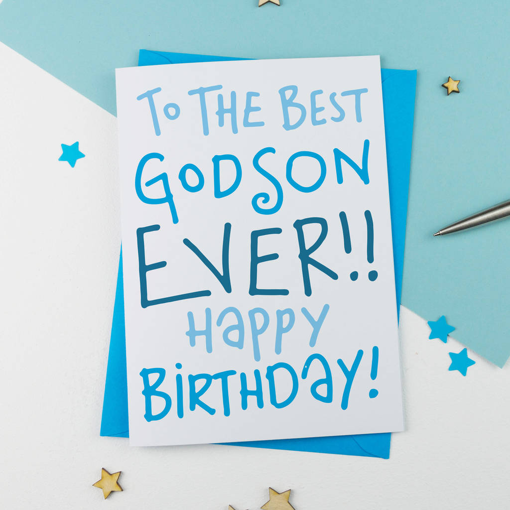 Godson Birthday Card By A Is For Alphabet