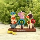 Personalised Woodland Animal Stacking Game