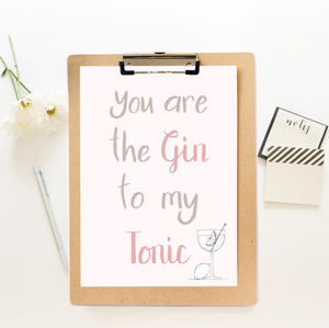Gin And Tonic Print - posters & prints