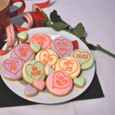 Love Hearts Cookie Tin - chocolates & confectionery