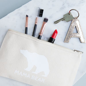 Personalised Mama Bear Makeup Bag