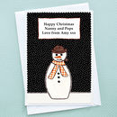 'Christmas Snowman' Personalised Christmas Card
