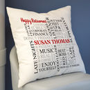 Personalised Retirement Word Art Cushion