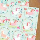Unicorn Wrapping Paper Two Sheets