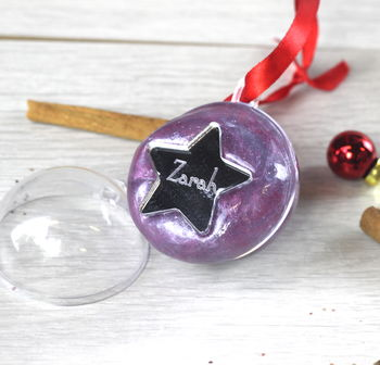 Personalised Galaxy Star And Slime Bauble