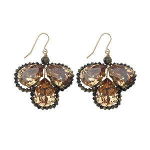 Dark Gold Droplet Earrings