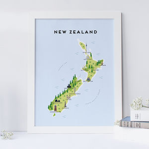Map Of New Zealand Print