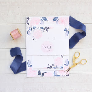 Midnight Blush Wedding Invitation Sample Pack - wedding stationery