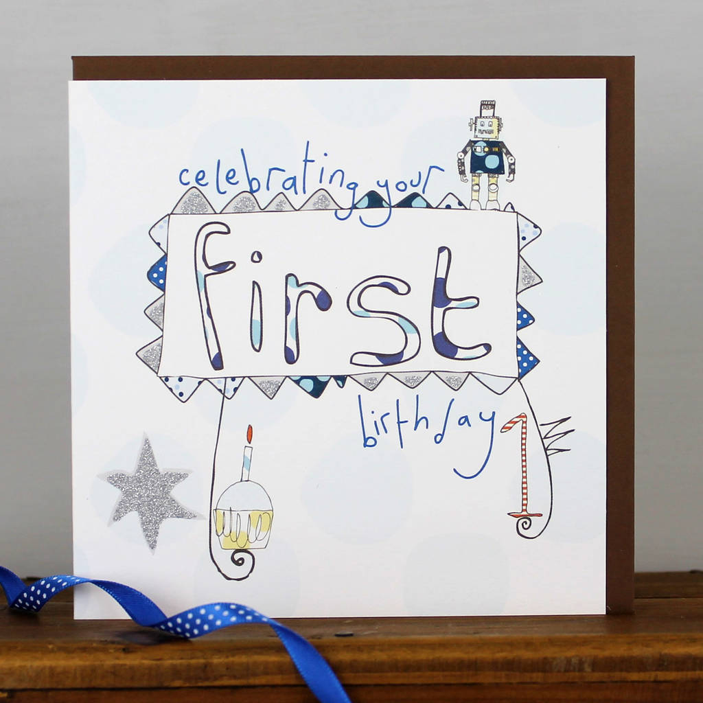 happy 1st birthday card for a boy by molly mae – 1st Birthday Greetings