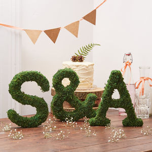 Moss Letter And Ampersand Set - outdoor decorations