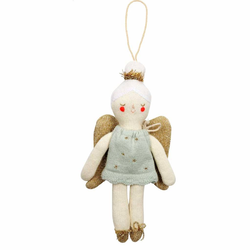 Knitted angel christmas tree decoration by idyll home for Angel christmas tree decoration