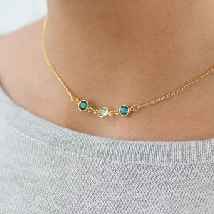 Family Birthstone Link Necklace - best mother's day gifts