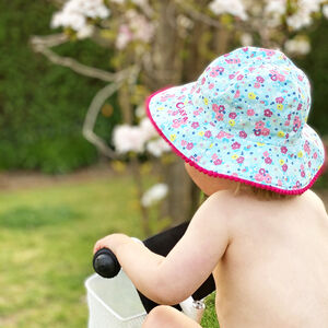 Personalised Children's Floral Summer Hat