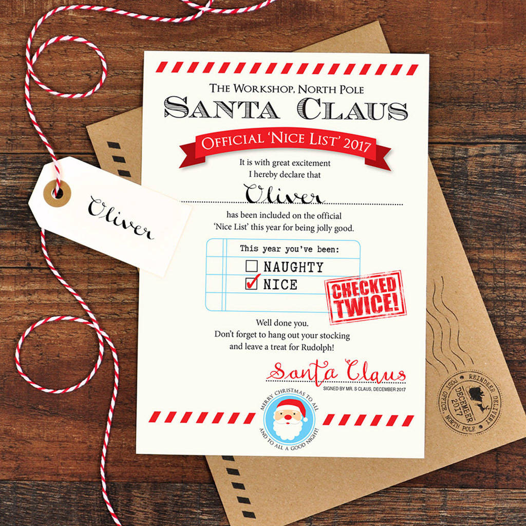 Free Printable Letter From Santa Naughty List