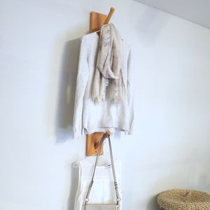 Wooden Clothes Hanging Hooks - stands, rails & hanging space