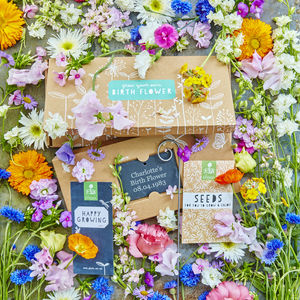 Birth Flower Seed Box - 40th birthday gifts