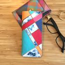 Art Deco Design Colour Block Grey Marble Glasses Case