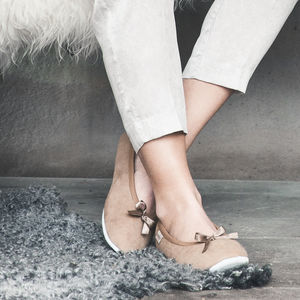 Sheepskin Ballerina Slippers - women's fashion