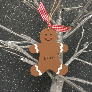 Personalised Christmas Gingerbread Man Decoration
