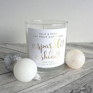 Sparkle And Shine Christmas Candle - christmas home