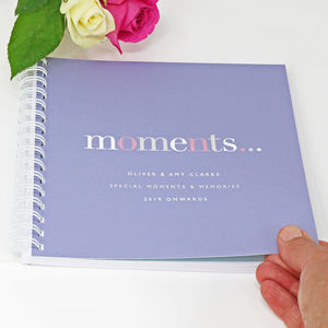 Personalised 'Moments' Memory Book